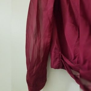J-Lo Tops - J-Lo Red burgundy sheer blouse new with tags M